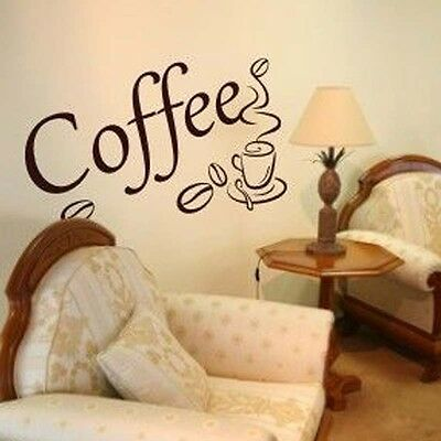 Coffee cup  KITCHEN  design DECOR  AFC11 wall sticker Decal