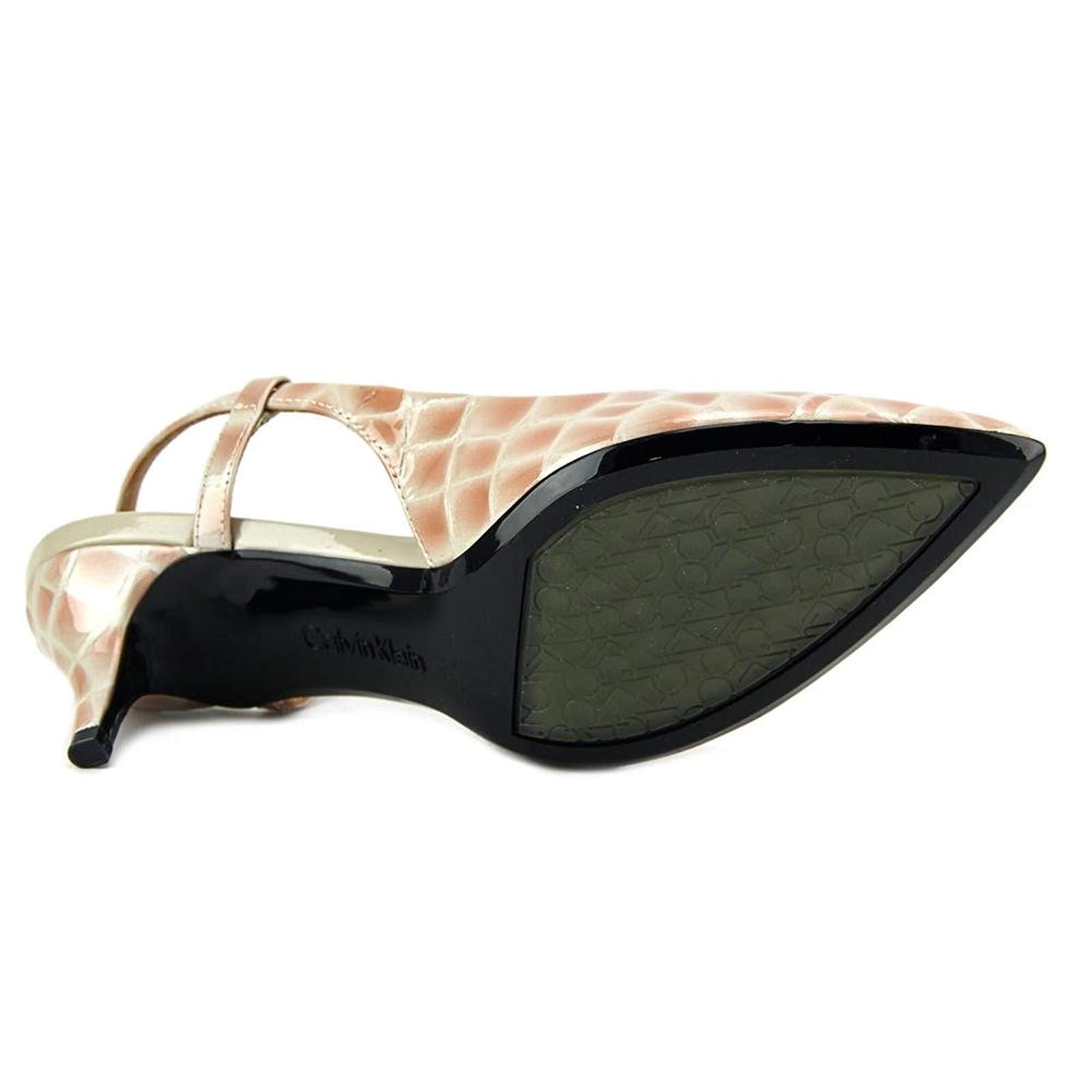 Calvin Klein Patsi Croco Patent Clay Damens Pump Slingback Schuhes