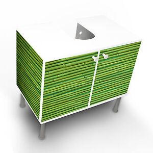 ... Design Waschbeckenunterschrank Schrank Waschtisch Unterschrank Bambus  Gruen Edel
