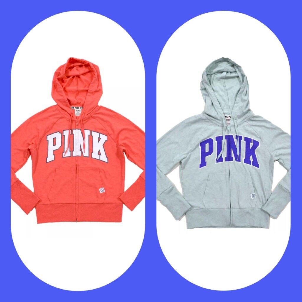 36a1164f6da45 Victoria's Secret Pink Zip Hoodie Lightweight Lightweight ...