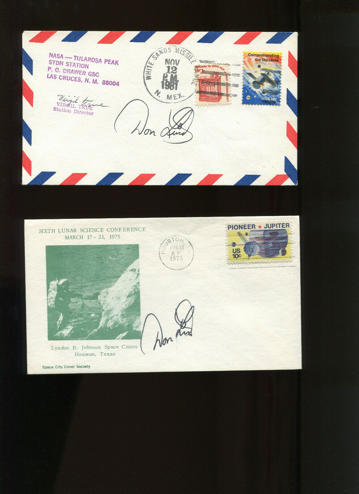 s l1600 - USA Space Shuttle  ASTRONAUT DON LIND LOT OF 3 SIGNED AUTOGRAPHS
