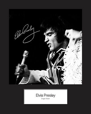 ELVIS PRESLEY #3 Signed Photo Print 10x8 Mounted Photo Print - FREE DELIVERY