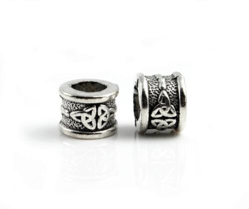 4 abalorios metálicos Infinity Antik plata Ø 6,5 mm-joyas fabrican pulsera celtas