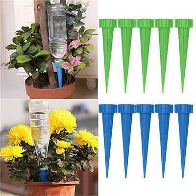 Automatic Garden Cone Watering Spike Plant Flower Waterers Bottle Irrigation tb