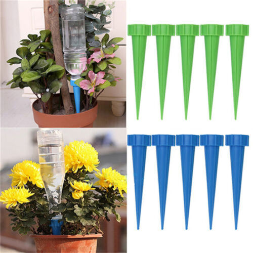 Automatic Garden Cone Watering Spike Plant Flower Waterers Bottle Irrigation BB