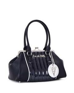 3421c17789 Lux de Ville V8 Kiss Lock Black Midnight Sparkle Pin Up Handbag ...
