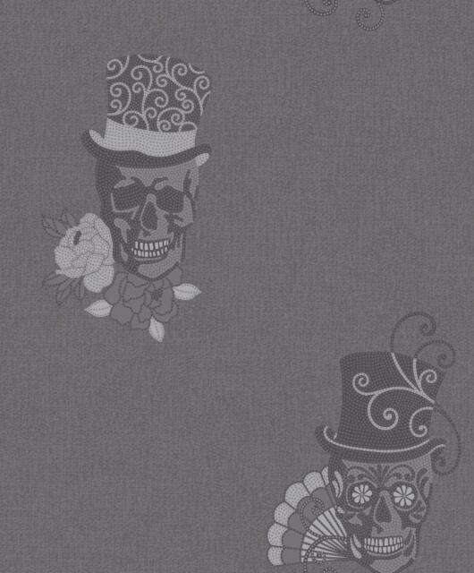 muriva skulls glitter