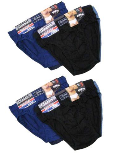 6 Mens Classic Sports Cotton Blend Slips Briefs Pants Underwear All Sizes