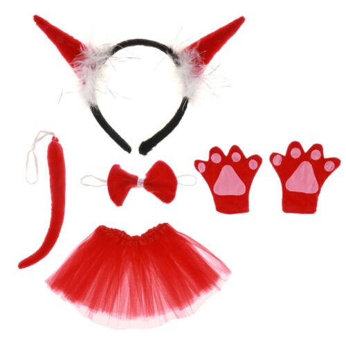 5pcs//set Kid Girl Cat Rabbit Animal Fancy Dress TUTU Costume Party Book Week Day