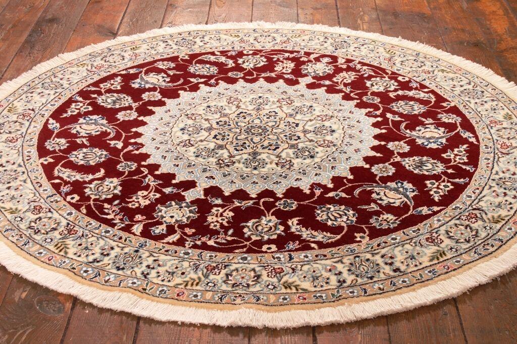 VERO tappeto orientale annodato a Mano Persiano (150 x 150) 150) 150) cm NUOVO TONDO - 69e676