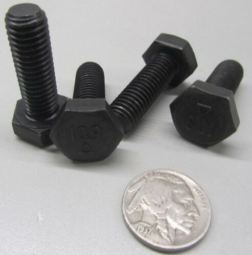 Cap Screw Bolt Full Thread Class 10.9 Uncoated M10 x 1.5 x 30mm Length 20 Pcs
