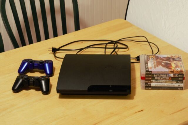 Sony Playstation 3 Slim Uncharted 3 320gb Charcoal Black Console Ps398438 For Sale Online Ebay