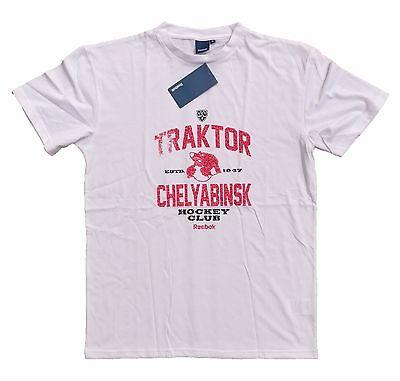 "HC Traktor Chelyabinsk /""Big Esteblishment/"" Russian Hockey Club T-Shirt Red"