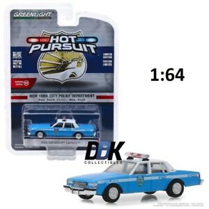 GREENLIGHT-42890-C-1990-CHEVROLET-CAPRICE-NYPD-POLICE-DIECAST-MODEL-CAR-1-64
