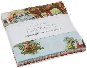 Purebred-II-Moda-Charm-Pack-42-100-Cotton-5-034-Precut-Fabric-Quilt-Squares