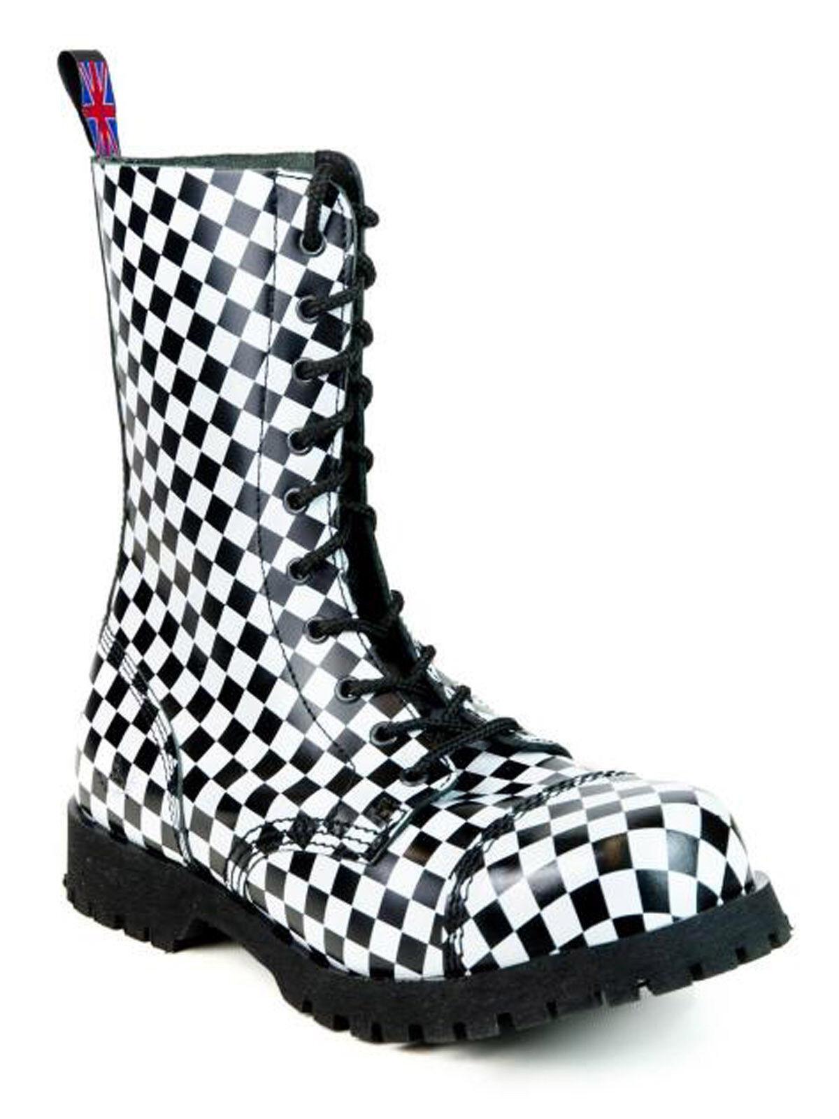 Alpha Ranger Springerstiefel 10-Loch Boot / Rangers Stiefel Checkerboard #5014