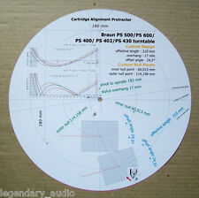 Braun PS-500/PS-600/PS-400/PS-402/PS-430 Cartridge Stylus Alignment Protractor