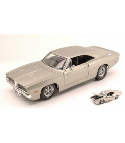 DODGE CHARGER R//T 1969 SILVER 1:25