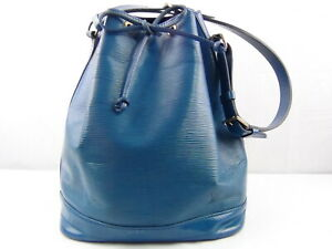 Us Seller Authentic Louis Vuitton Epi Large Noe Shoulder Bag Purse Good Lv Blue Ebay