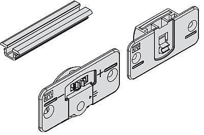 Häfele Schiebetürsystem Möbel-Schiebetür Holz Schiebetürbeschlag 20 kg Möbeltüre