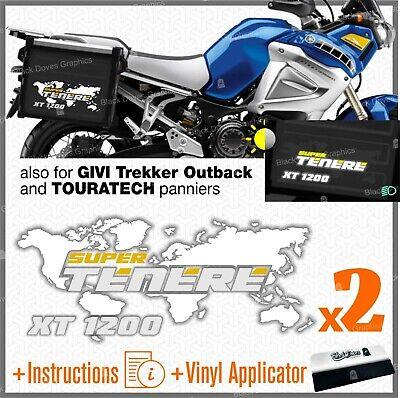 2x Adesivi Nero Rosso Blu compatibile con Yamaha XT 660 Z Tenere TOURATECH GIVI