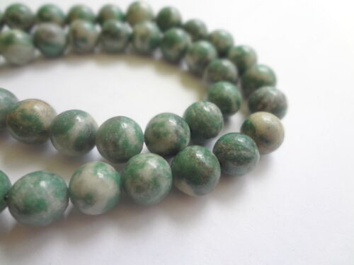 8mm Round Green Quinghai Jade Semi Precious Gemstone Beads 24pcs Half Strand