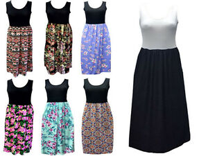 Womens-Ladies-Racer-Back-Long-Maxi-Dress-Floral-Printed-Sleeveless-Size-8-26