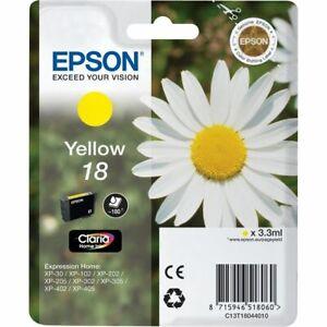 Genuine-Original-Epson-18-Yellow-Ink-Cartridge-Brand-New-Sealed