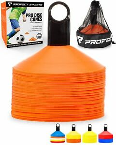 50 Orange Disc Cône Soccer Football Field Training équipement Sport D'équipe-afficher Le Titre D'origine Les Produits Sont Disponibles Sans Restriction