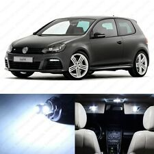 11 x Xenon White LED Interior Light Package For 2010 - 2013 VW Golf GTi Mk6