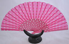 XL Spanish flamenco Pink Pericón dance fan guajira eventails fächer ventagli
