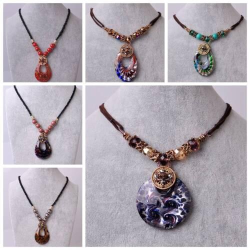 Fashion Strass Cristal Perles De Verre Collier Chandail Chaîne Femmes Bijoux Cadeau