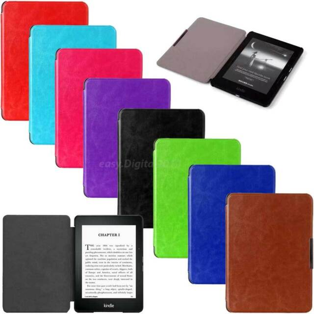 Ultra Slim Magnetic Leather Smart Case Cover for Amazon Kindle Paperwhite Models