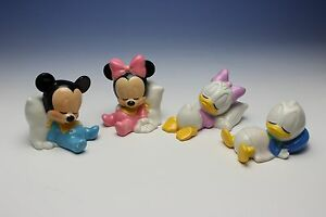 Disney Sleeping Baby Mickey Minnie Donald Daisy Set of 4 Porcelain ...