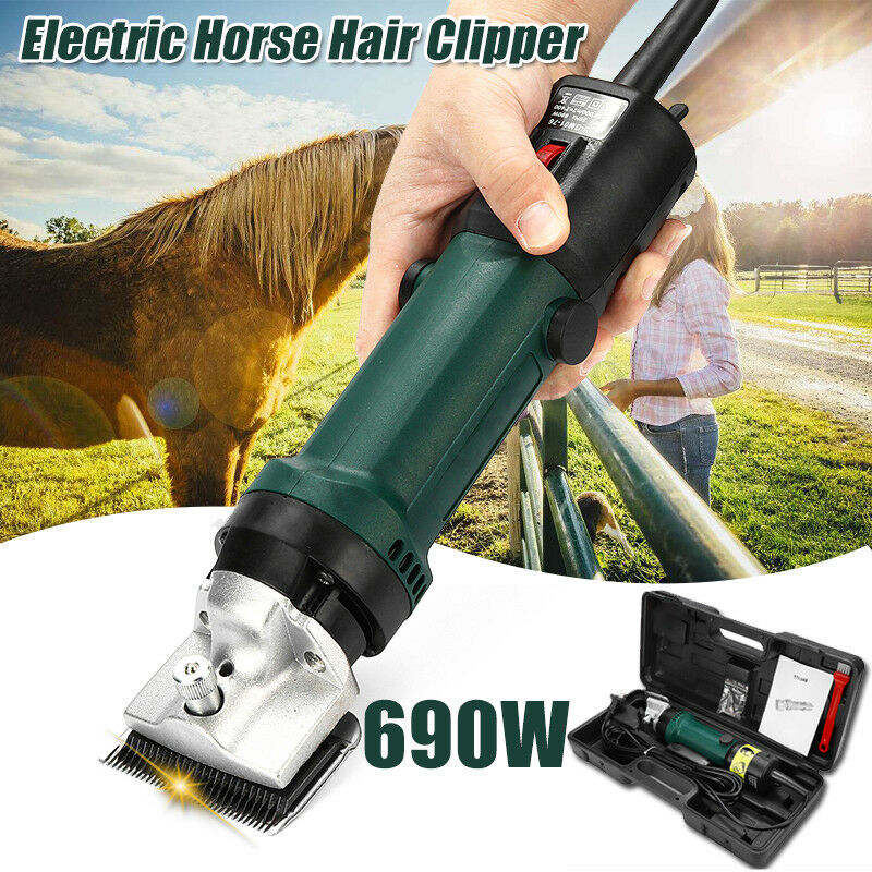 690W Heavy Duty Electric Horse Hair Clipper 6 Speed Grooming Trimmer Shaver Farm
