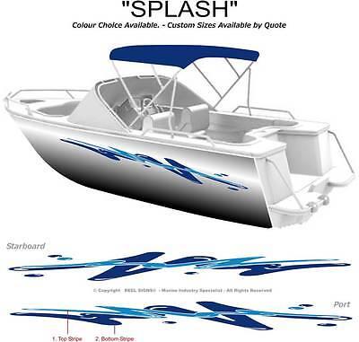 "BOAT GRAPHICS DECAL STICKER KIT ""SPLASH -2800""  MARINE CAST VINYL"