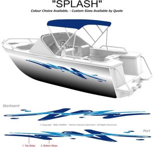 BOAT GRAPHICS DECAL STICKER KIT SPLASH -2800  MARINE CAST VINYL