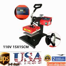 T Shirt Heat Press Machine Transfer 15cm X15cm Combo Diy Printer Sublimation