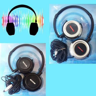 Cuffie Audio Jack 3.5 Mm Richiudibili Pc Rotanti 5 Metri Smartphone Musica 847