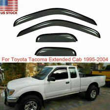 For Toyota Tacoma Extended Cab 95 04 Smoke Window Visor Sun Rain Guards Shades Fits 1996 Toyota Tacoma