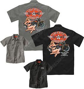 Velocitee Speed Shop Mens Polo Shirt Last Stop Vintage Motorcycle Biker W13688