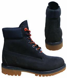 manzana dividir Por ley  Timberland Premium 6 Inch Lace Up Mens Waterproof Navy Nubuck Boots A1U7X  Z55A   eBay