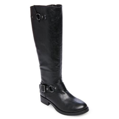 Women MADDEN GIRL FAYETTE BLACK Tall Boot Shoes