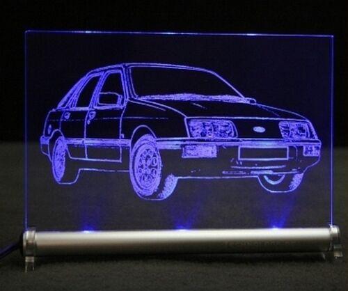 Ford Sierra als AutoGravur auf LED-Leuchtschild    XR4i