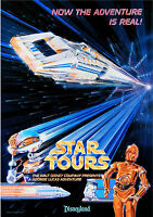 Vintage Disney 11 X 17 ( Star Tours ) Collector's Poster Print - B2g1f