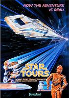 Vintage Disney 11 X 17 ( Star Tours ) Collector's Poster Print - B2g1f