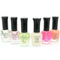 Kleancolor 6 Nail Lacquer Polish Clear Matte Calcium Sheer Top Coat Collection