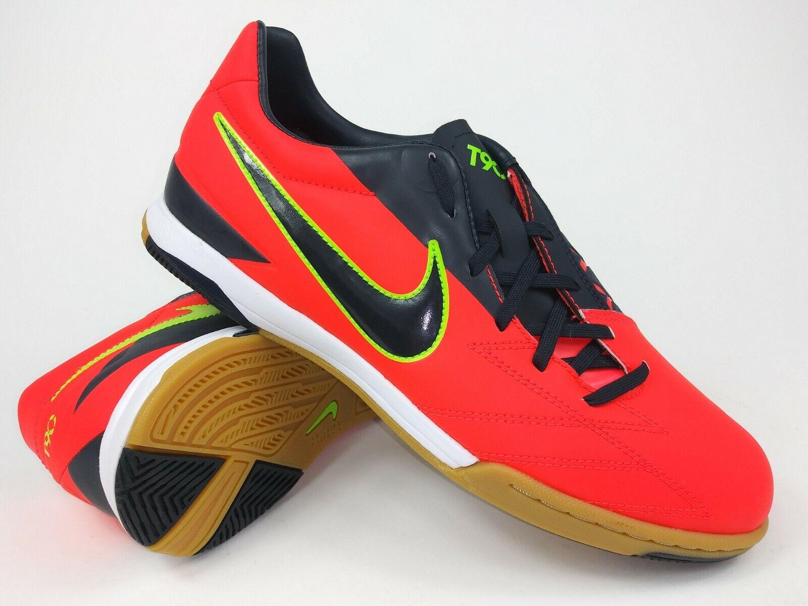 Nike Hombre Raro T90 Shoot IV IC 472558-643 Naranja Zapatos Botines de Fútbol Indoor