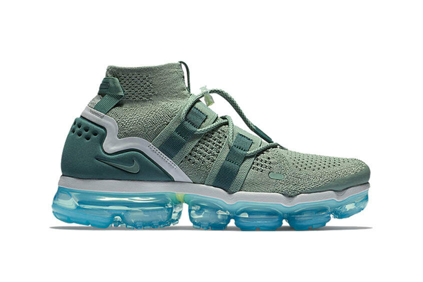 Nike air vapormax utility - grün - blau größe 13.ah6834-300.flyknit moc