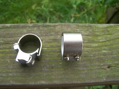1 Weaver 22 Rifle Scope Tip Off Rings Silver Ebay